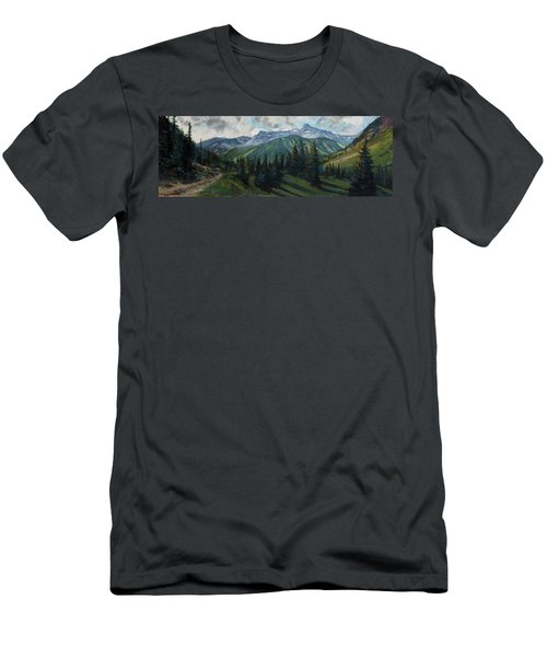 Men's T-Shirt (Slim Fit) featuring the painting Yankee Boy Basin by Billie Colson