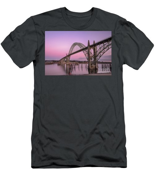 Yaquina Bay Bridge In Blue Light Men's T-Shirt (Athletic Fit)