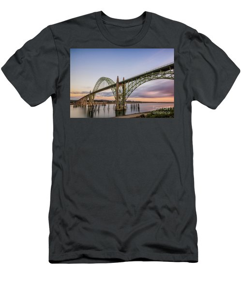 Yaquina Bay Bridge Men's T-Shirt (Athletic Fit)