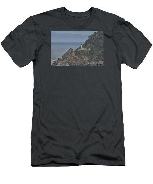 Men's T-Shirt (Slim Fit) featuring the photograph Yaquina Bay Lighthouse by Tom Kelly