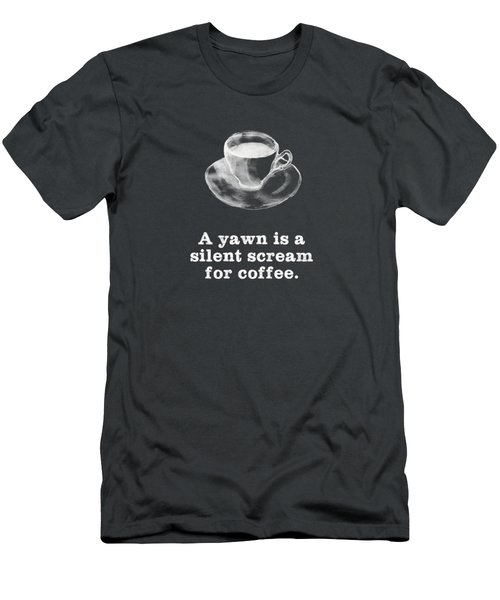 Yawn For Coffee Men's T-Shirt (Athletic Fit)