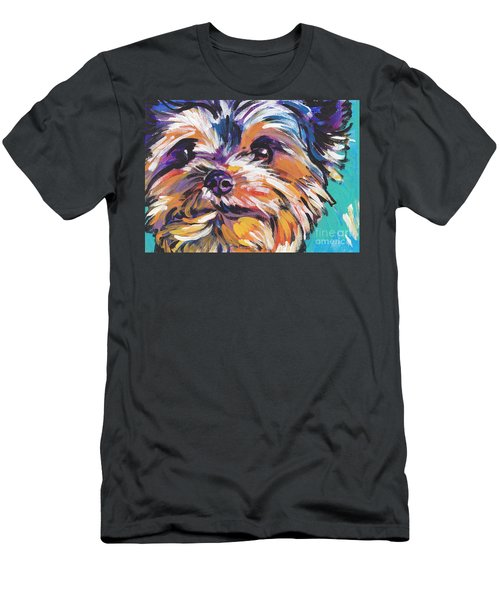 Yay Yorkie  Men's T-Shirt (Athletic Fit)