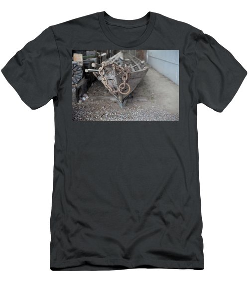 Men's T-Shirt (Athletic Fit) featuring the photograph Ye Old Fishing Boat by Fran Riley