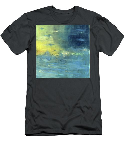 Men's T-Shirt (Slim Fit) featuring the painting Yearning Tides by Michal Mitak Mahgerefteh