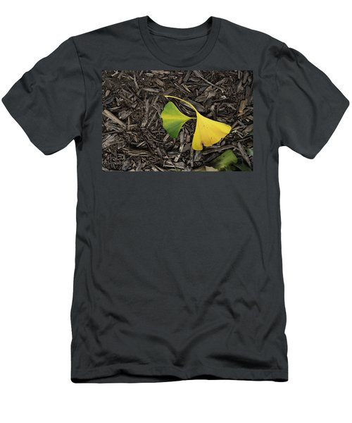 Yellow And Green Gingko Men's T-Shirt (Athletic Fit)