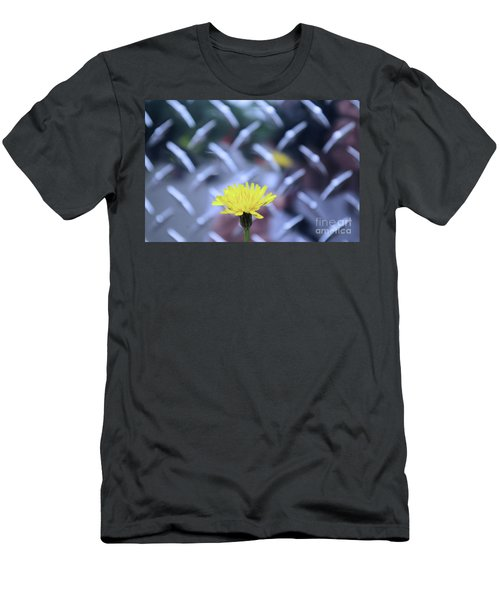 Yellow And Silver Men's T-Shirt (Athletic Fit)