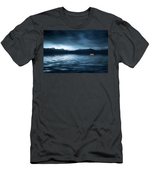 Yellow Boat Men's T-Shirt (Slim Fit) by Bess Hamiti