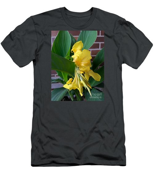 Yellow Canna Men's T-Shirt (Athletic Fit)