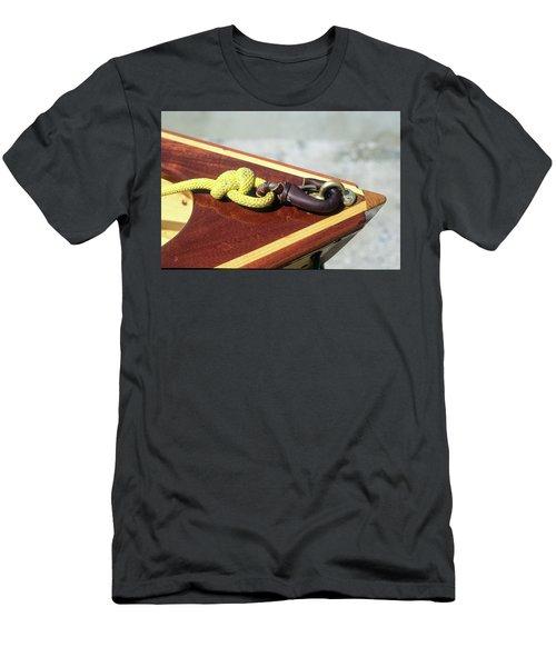Yellow Line Men's T-Shirt (Athletic Fit)