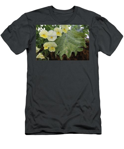 Yellow Pansies Men's T-Shirt (Athletic Fit)