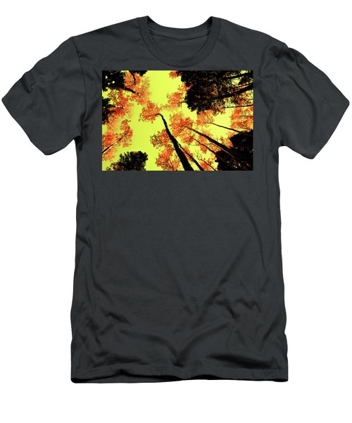 Yellow Sky, Burning Leaves Men's T-Shirt (Slim Fit) by Kevin Munro