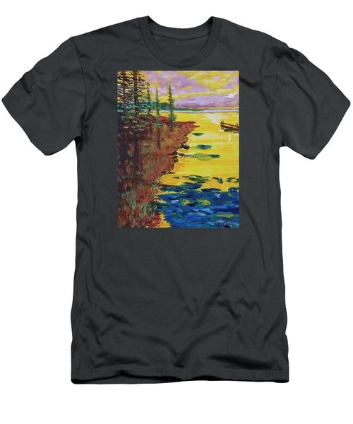Yellow Sunset Men's T-Shirt (Slim Fit) by Mike Caitham