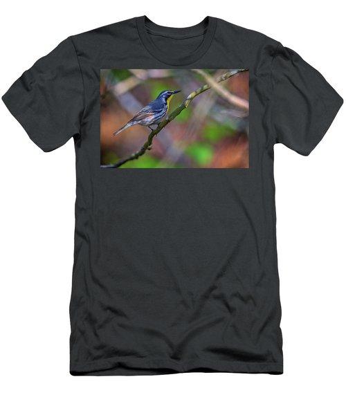 Yellow-throated Warbler Men's T-Shirt (Slim Fit) by Rick Berk