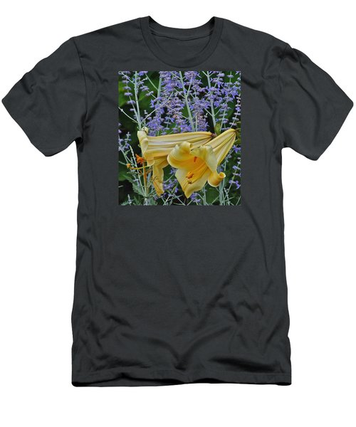 Yellow Trumpets Men's T-Shirt (Slim Fit) by Janis Nussbaum Senungetuk