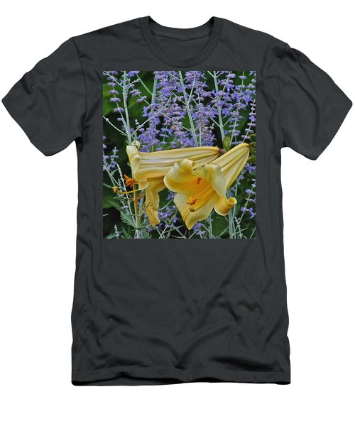 Yellow Trumpets Men's T-Shirt (Athletic Fit)