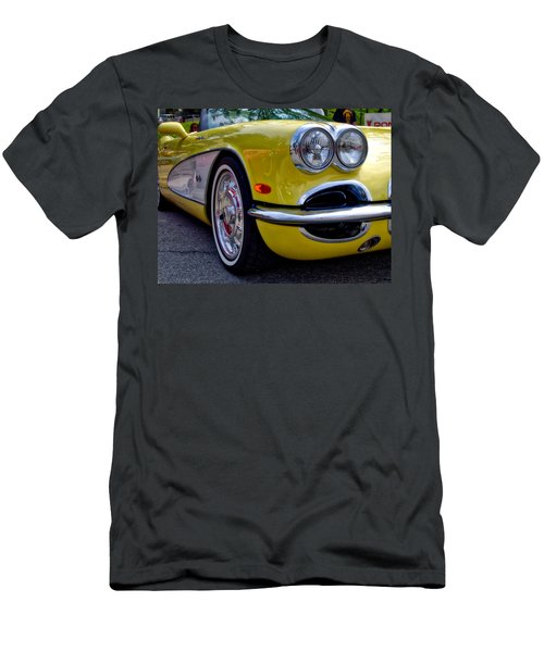 Yellow Vette Men's T-Shirt (Athletic Fit)