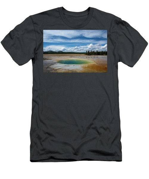 Men's T-Shirt (Athletic Fit) featuring the photograph Yellowstone Colors #12 by Scott Read