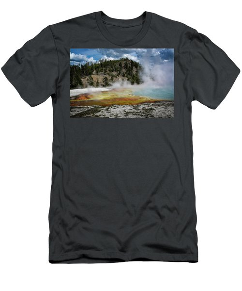 Men's T-Shirt (Athletic Fit) featuring the photograph Yellowstone Colors #13 by Scott Read