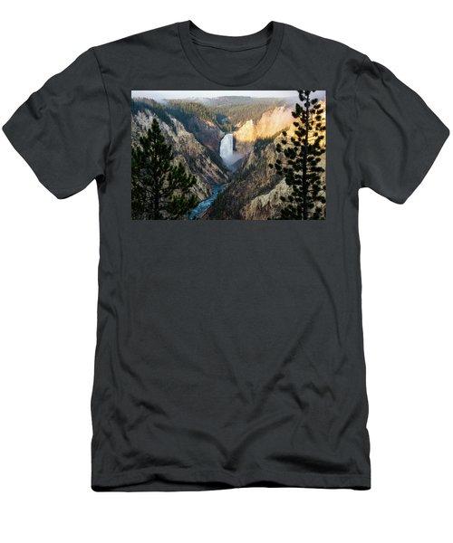 Yellowstone Falls Men's T-Shirt (Athletic Fit)