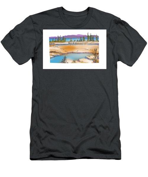 Yellowstone Men's T-Shirt (Slim Fit) by Kathryn Launey