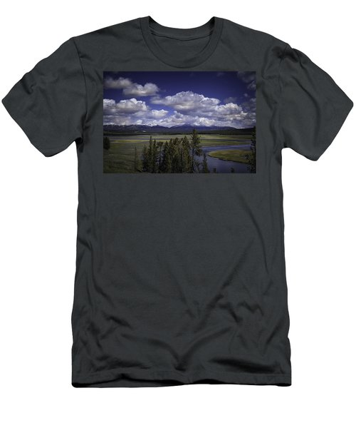 Men's T-Shirt (Slim Fit) featuring the photograph Yellowstone River by Jason Moynihan