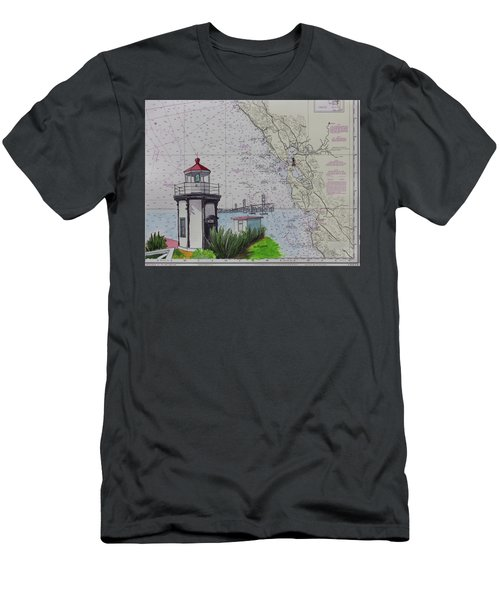 Yerba Buena Island Lighthouse Men's T-Shirt (Athletic Fit)