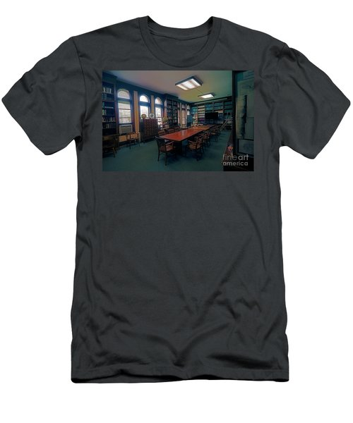 Men's T-Shirt (Athletic Fit) featuring the photograph Yerkes Observatory, Williams Bay Study by Tom Jelen