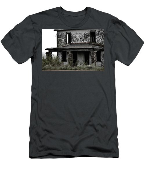 Men's T-Shirt (Athletic Fit) featuring the photograph Yesterdays Front Porch by Melissa Lane