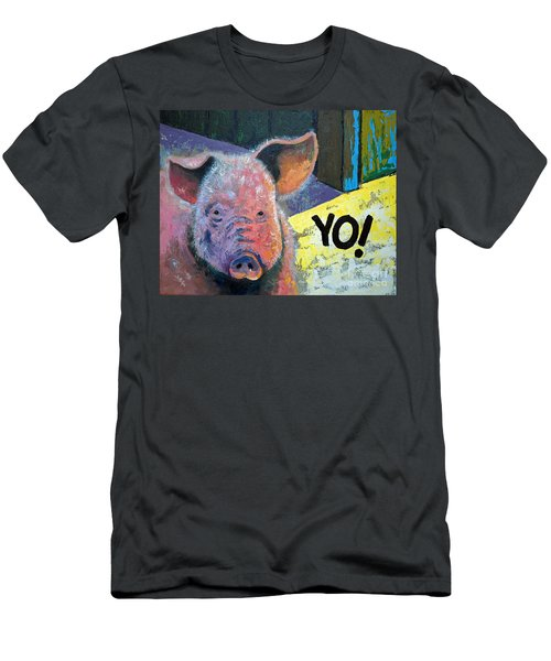 Yo Pig Men's T-Shirt (Slim Fit)