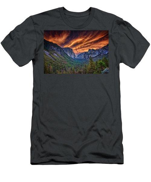 Yosemite Fire Men's T-Shirt (Athletic Fit)