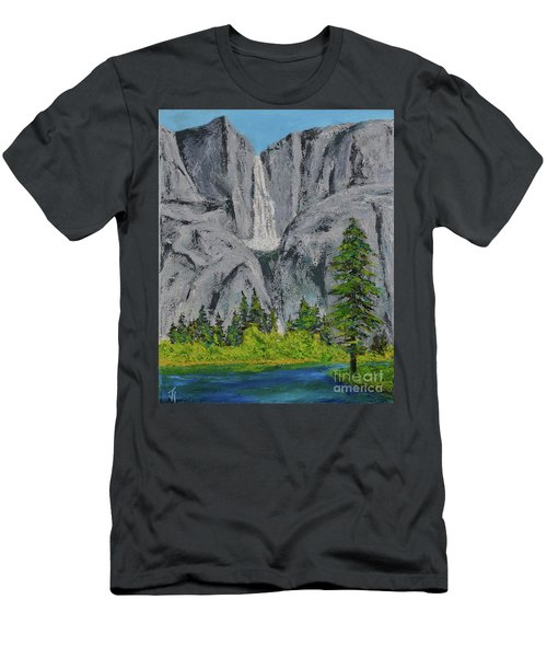 Yosemite Upper Falls Men's T-Shirt (Athletic Fit)