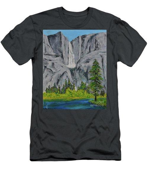 Yosemite Upper Falls Men's T-Shirt (Athletic Fit)