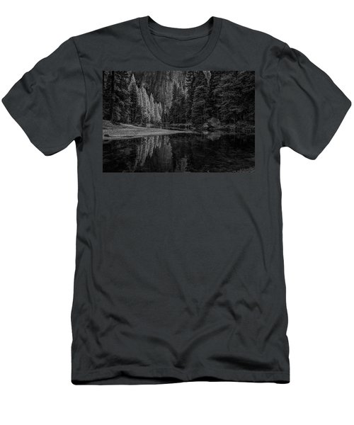 Yosemite Valley Reflactions Bw Men's T-Shirt (Athletic Fit)