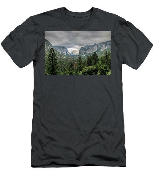 Yosemite View 36 Men's T-Shirt (Slim Fit) by Ryan Weddle