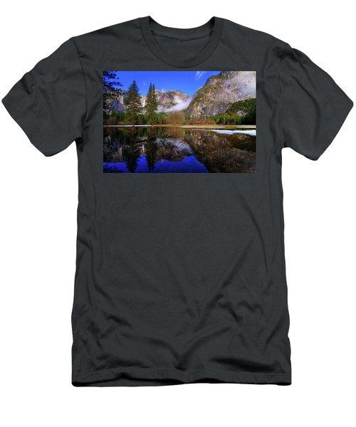 Yosemite Winter Reflections Men's T-Shirt (Athletic Fit)
