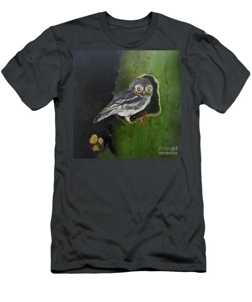 Men's T-Shirt (Slim Fit) featuring the painting You Caught Me by Roseann Gilmore