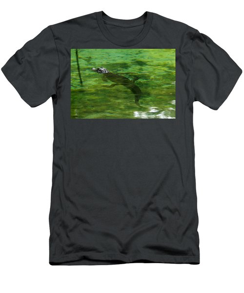 Young Alligator Men's T-Shirt (Athletic Fit)