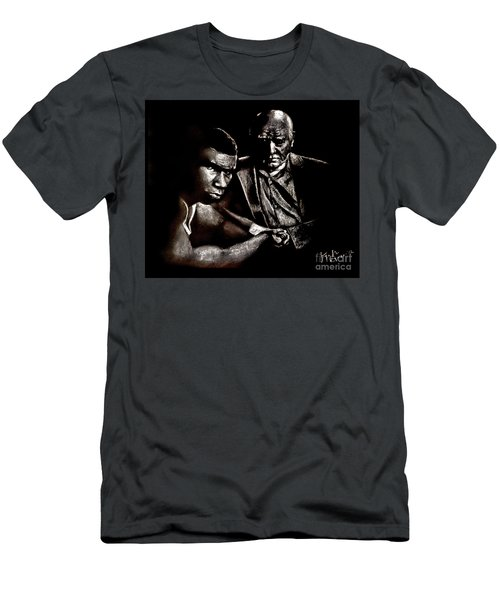 Young Boxer And Soon To Be World Champion Mike Tyson And Trainer Cus Damato Men's T-Shirt (Athletic Fit)