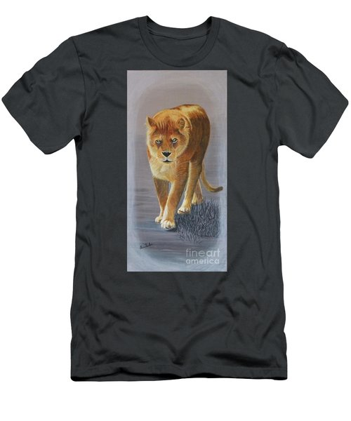 Young Male Lion Men's T-Shirt (Athletic Fit)