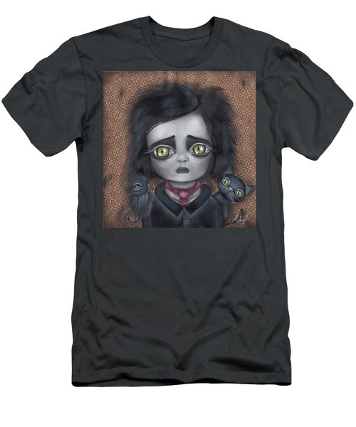 Young Poe Men's T-Shirt (Slim Fit) by Abril Andrade Griffith