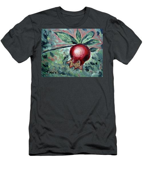 Men's T-Shirt (Athletic Fit) featuring the painting Young Pomegranate by Maria Langgle
