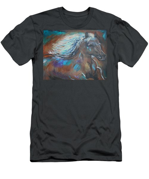 Men's T-Shirt (Slim Fit) featuring the painting Your Majesty by Leslie Allen