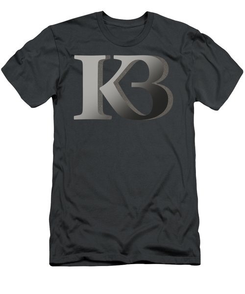 Your Name - K B Monogram 2 Men's T-Shirt (Athletic Fit)