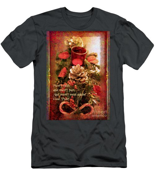 Men's T-Shirt (Athletic Fit) featuring the digital art Yule Greetings 2017 by Kathryn Strick