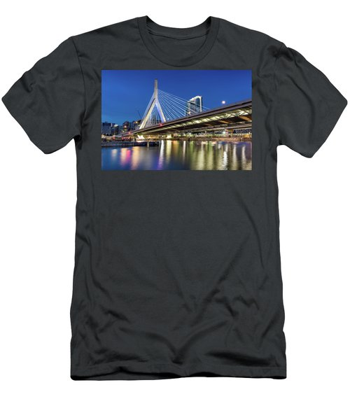 Zakim Bridge And Charles River Men's T-Shirt (Athletic Fit)