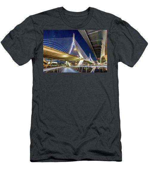 Zakim Bridge From Bridge Under Another Bridge Men's T-Shirt (Athletic Fit)