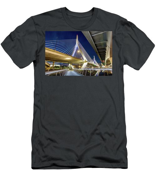 Zakim Bridge From Bridge Under Another Bridge Men's T-Shirt (Athletic Fit)
