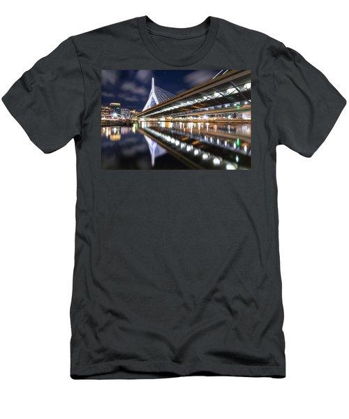 Zakim Bridge From Paul Revere Park Men's T-Shirt (Athletic Fit)