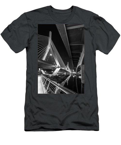 Zakim Bridge From Under The Leverett Connector Bridge Men's T-Shirt (Athletic Fit)