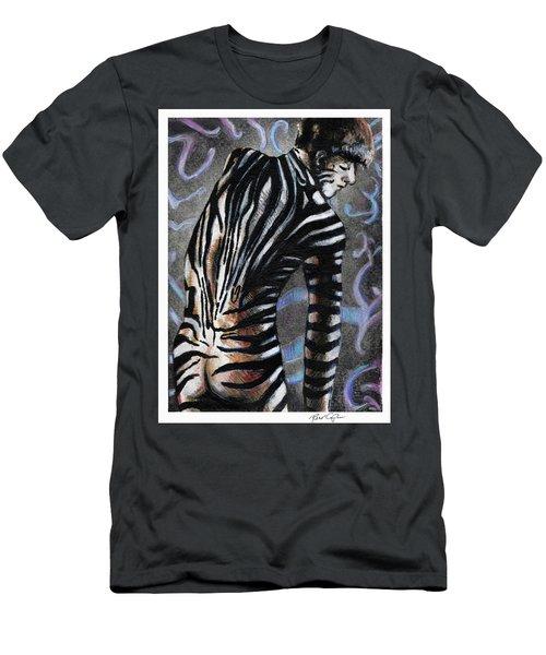 Zebra Boy At Dawn Men's T-Shirt (Athletic Fit)